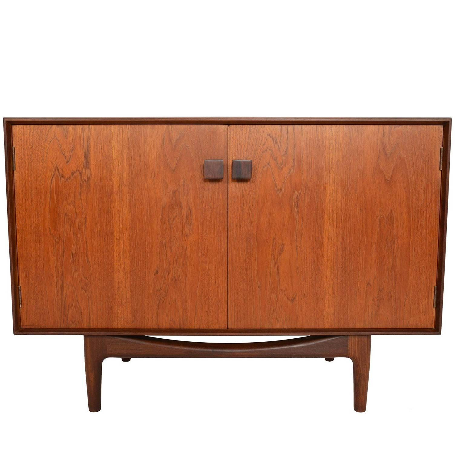 Small Refinished Teak Credenza By Ib Kofod Larsen For G Plan #4