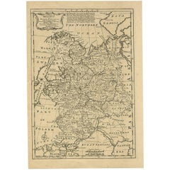 Antique Map of Moscovy 'Russia' by E. Bowen, 1747