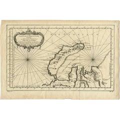 Antique Map of Nova Zembla 'Russia' by J.N. Bellin, 1758