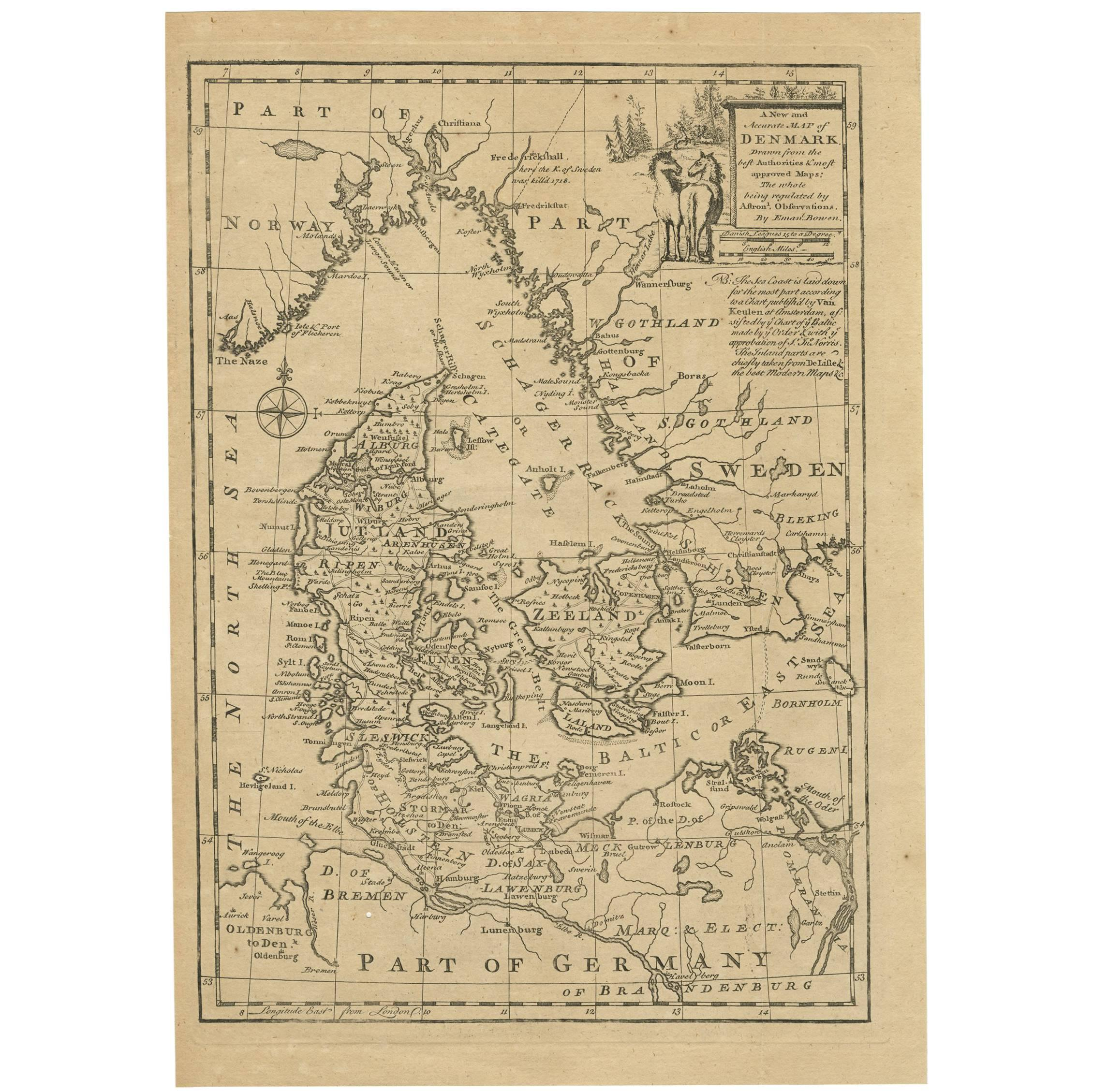 Map Of North Italy.Antique Map Of Northern Italy And Livorno By E Bowen 1747