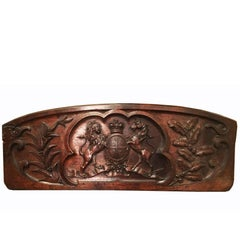 Exceptional Edwardian Carved Oak Royal Arms from a Royal Punt, circa 1905
