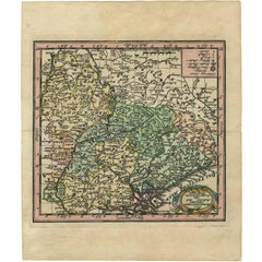 Antique Map of Belgium by J.C. Weigel, 1723