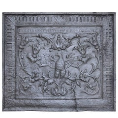 Cast Iron Fireback Decorated with a Phoenix, 18th Century