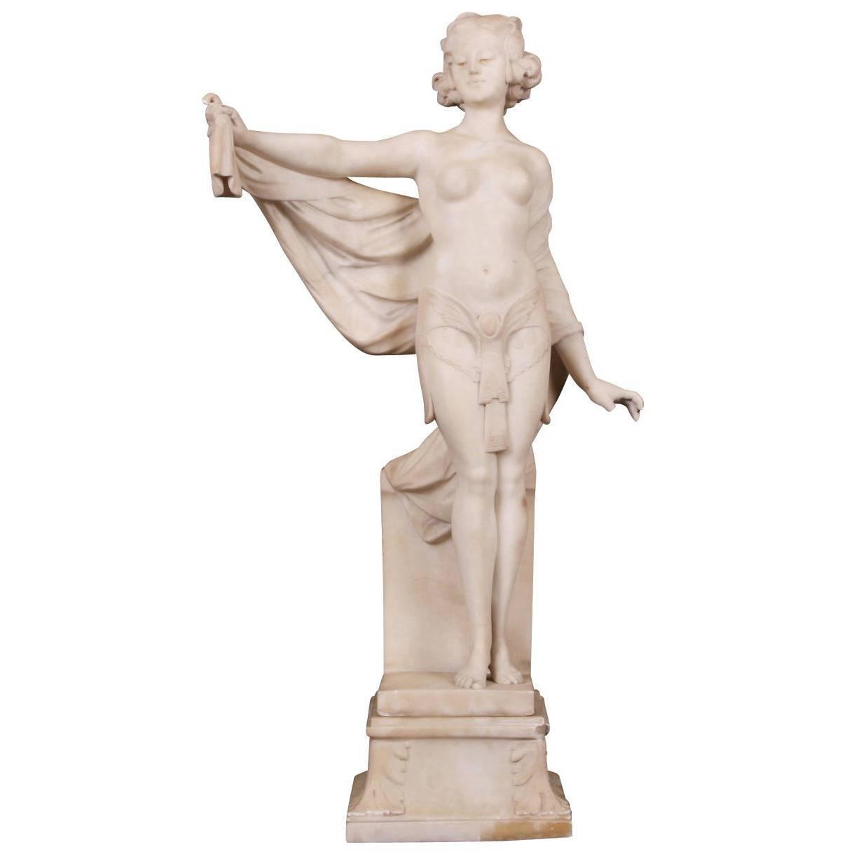 Adolpho Cipriani 'Italian, Active 1880-1930' Alabaster Figure