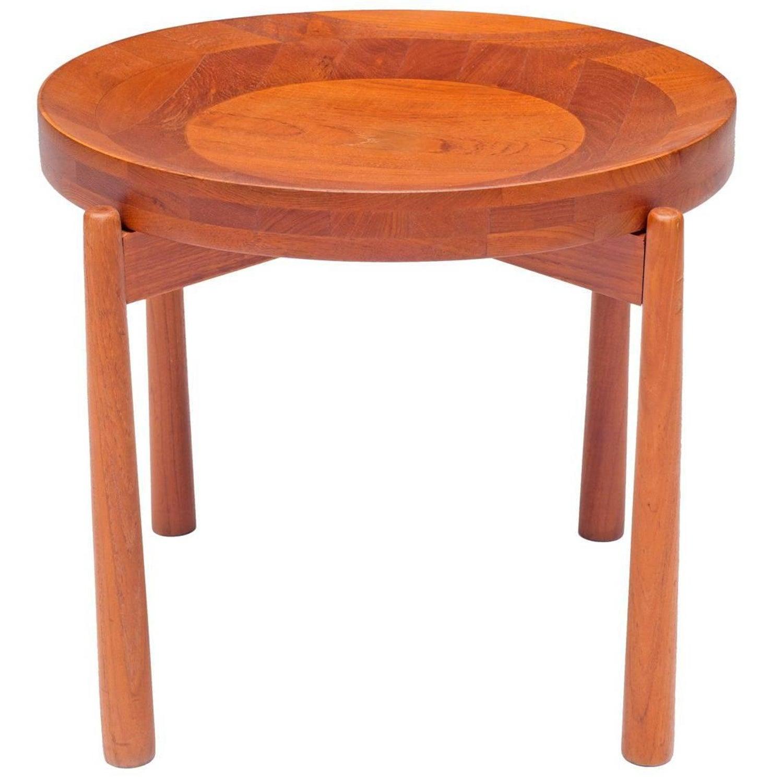 jens quistgaard teak tray table for nissen denmark s. danish stackable tables manner of jens quistgaard for nissen for