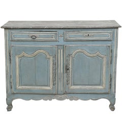 Louis XV Style Carved Walnut and Paint Decorated Cabinet