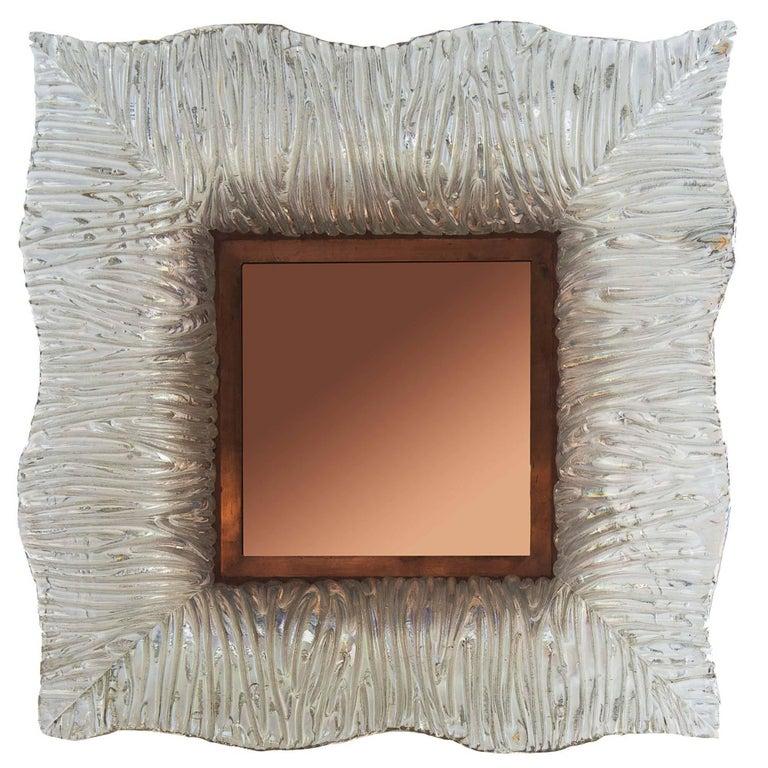 Roberto Giulio Rida, Mirrors with Venini Glass and Cooper Frame