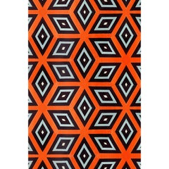 Kinder Modern Cubist Rectangular Area Rug in 100% New Zealand Wool