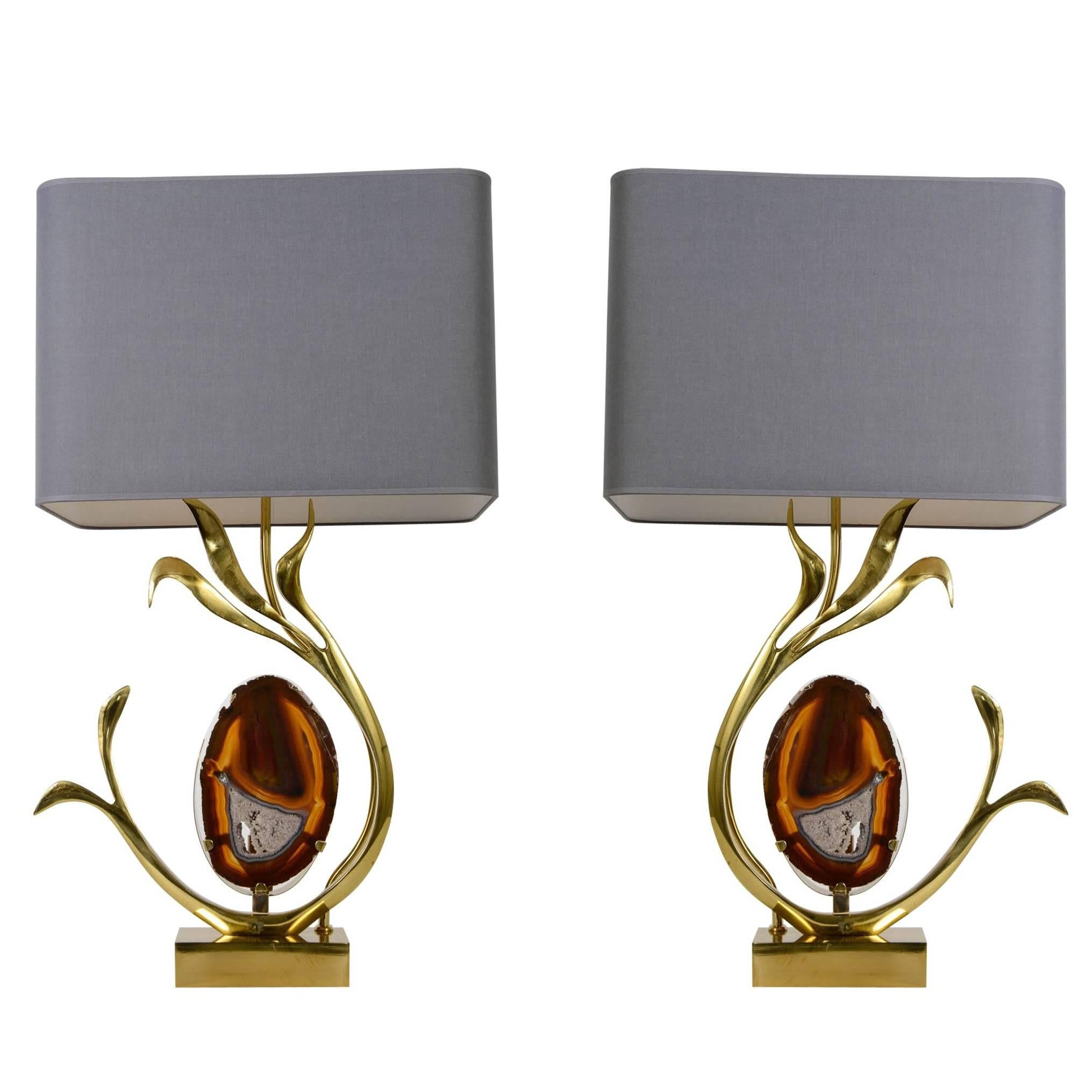 Pair of Lamps Designed by Willy Daro