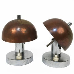 Rare Pair of Bauhaus 1930s Table Lamps Franta 'Frantisek' Anyz e Jaroslav