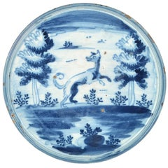 Delightful Blue and White Spanish Majolica Tazza