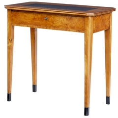 19th Century Swedish Alder and Birch Side Table