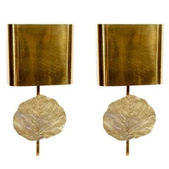 Bronze and Brass Wall Sconces by Maison Charles