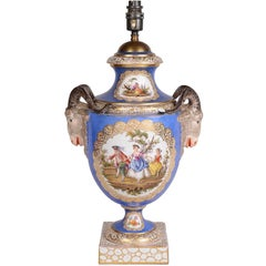 19th Century Dresden Porcelain Vase or Lamp