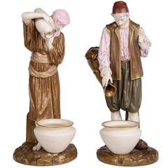 Pair of 19th Century Royal Worcester Eastern Water Carriers
