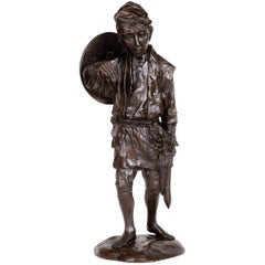 Meiji Period Japanese Bronze Figure of a Farmer