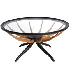 Giuseppe Scapinelli Aranha Round Coffee Table in Brazilian Caviuna
