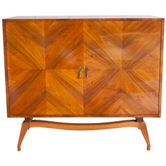 Brazilian Mid-Century Modern Bar in Caviuna Wood