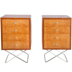Brazilian Mid-Century Modern Nightstands in Caviuna Wood