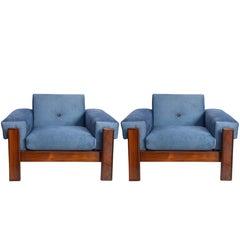 Mid-Century Modern Armchairs in Brazilian Jacaranda