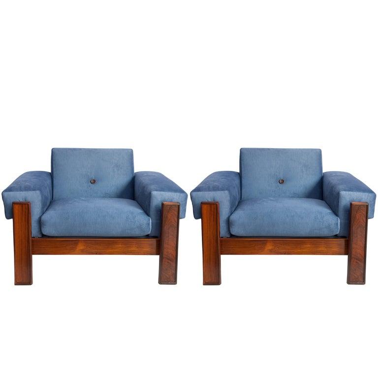 Jorge zalszupin mid century modern armchairs in brazilian jacaranda for sale at 1stdibs - Brazilian mid century modern furniture ...