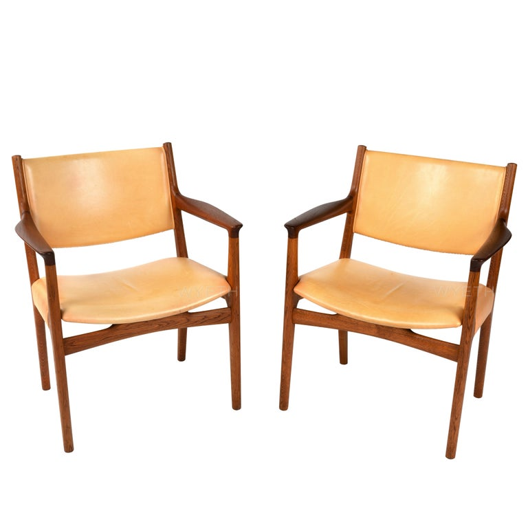 Pair of Armchairs by Hans Wegner For Sale