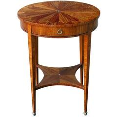 Well-Crafted English Edwardian Matchbook-Veneered Circular Side Table