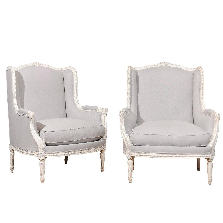 louis xvi wingback chairs