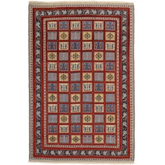 Vintage Gabbeh Indian Rug with Four Seasons Design