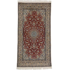 Vintage Persian Nain Rug with Traditional Style