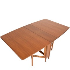 Mid-Century Modern Drop Leaf Dining Table in Teak by A.H. McIntosh