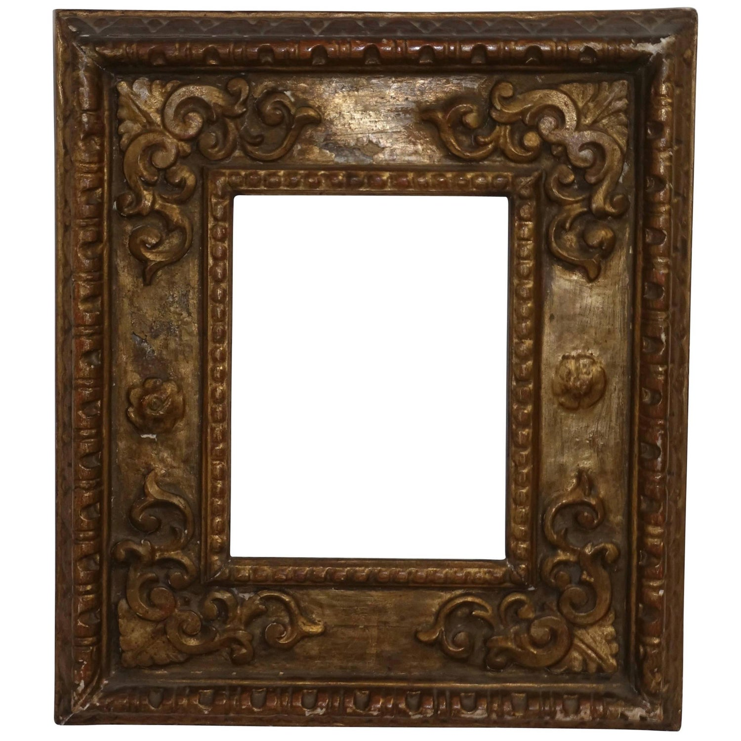18th Century Venetian Gilt Carved and Polychrome Frame For Sale at ...
