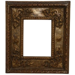 18th Century Spanish Colonial Carved and Gilt Frame