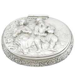 1690s Antique Dutch Silver Tobacco Box