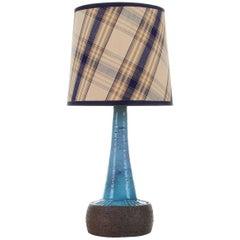 Blue Stoneware Table Lamp by Sejer Keramikfabrik, 1960s