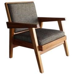 Handmade Mexican Contemporary Conacaste Solid Wood Living-room Armchair
