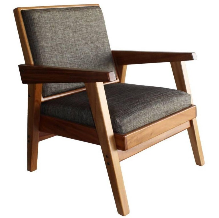 Handmade Mexican Contemporary Conacaste Solid Wood Living-room Armchair