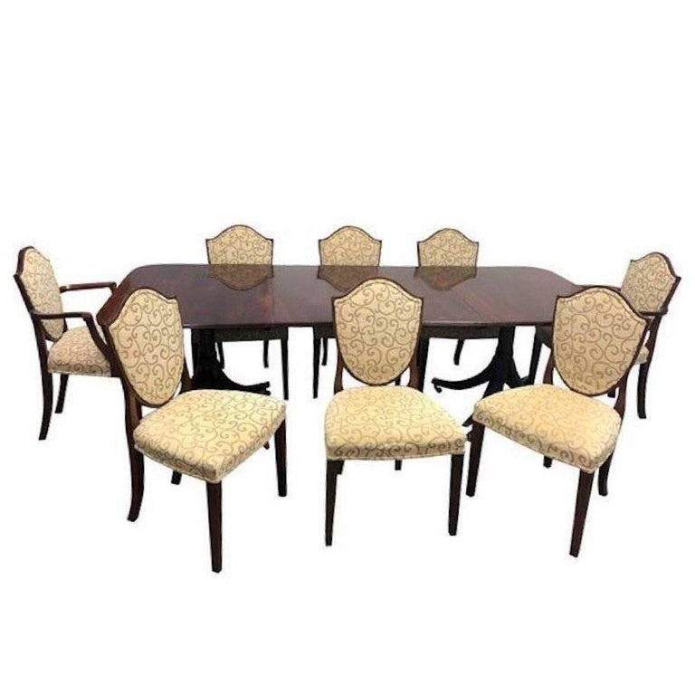 William Tillman Dining Table and Eight Chairs