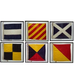 Authentic Antique WWII Nautical Signal Flags