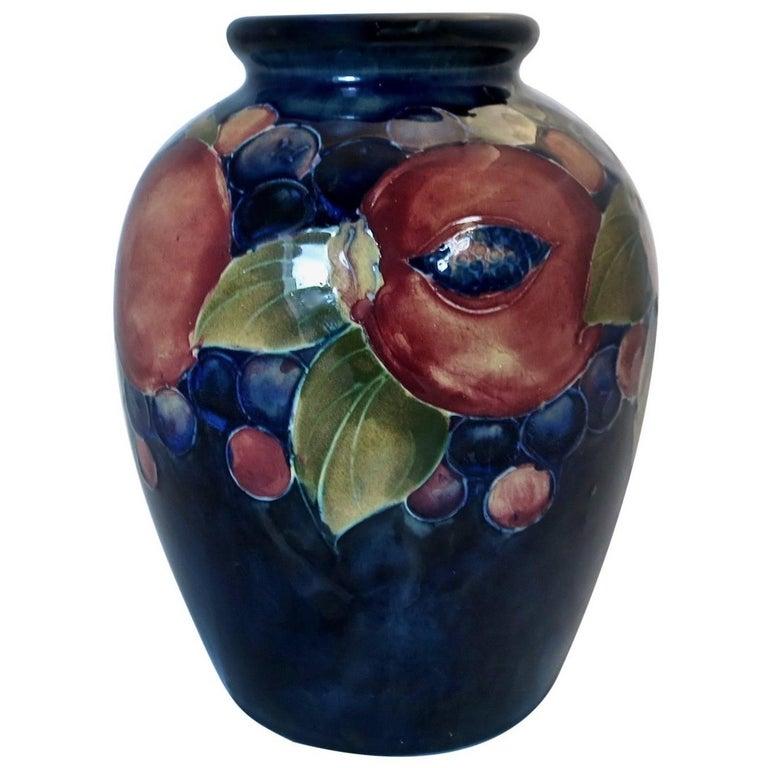 Vintage Moorcroft Pottery Pomegranate Vase For Sale At 1stdibs
