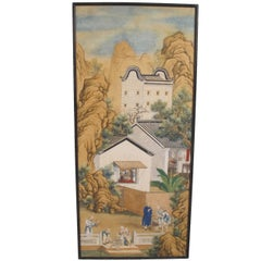 19th Century Chinese Watercolor Painting on Paper