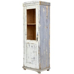 Late 19th Century Rustic Painted Pine Cabinet