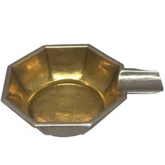 Silver and Vermeil German Deco Ashtray