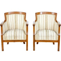 Pair of Late 19th Century Oak Armchairs