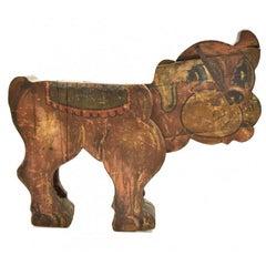 1850s Fair Carousel Wooden Dog