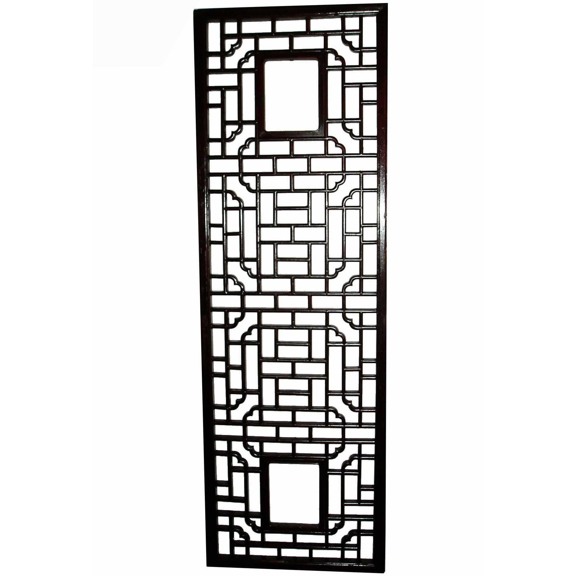 Mahogany Lattice Wall Panel, Mid 20th Century