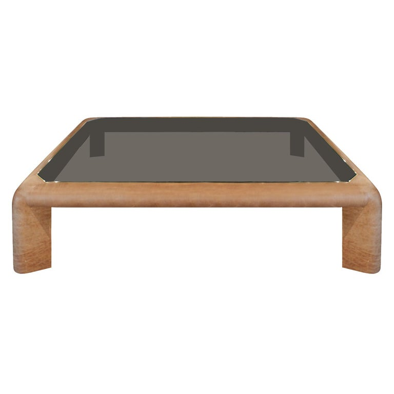 Karl Springer Large Mark Ii Coffee Table In Leather