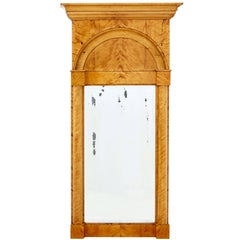 Late 19th Century Swedish Birch Pier Mirror