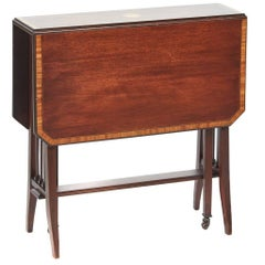 Inlaid Mahogany Baby Sutherland Table