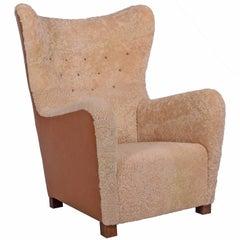 1942 Fritz Hansen Lounge Chair Model #1672